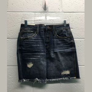 Mudd flex stretch distressed denim skirt